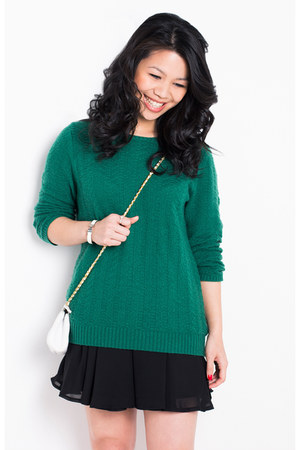 Gap sweater - Chanel bag - supre skirt - Hermes bracelet - ring