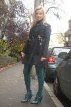 Nine West boots - Zara tights - Debenhams scarf - Pinko coat