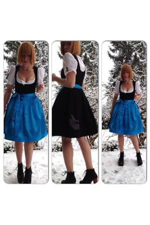 black dirndl black upper palatinate rocks dress