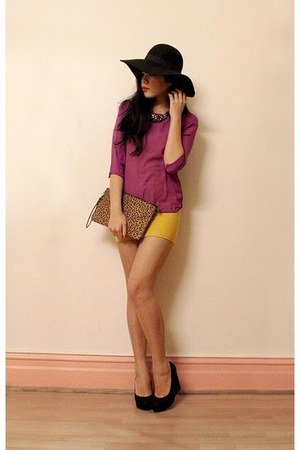 magenta Sportsgirl top - black tony bianco wedges