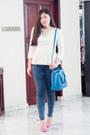 Kitten-heels-h-m-heels-peplum-mango-top-forever-21-accessories