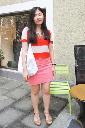 H&M skirt - Mango blouse