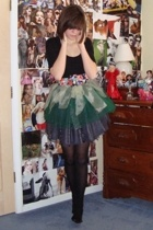Forever21 skirt - Self Made skirt - Urban Outfitters shirt - Forever21 tights -