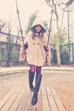 rose bud boots - cape asos coat