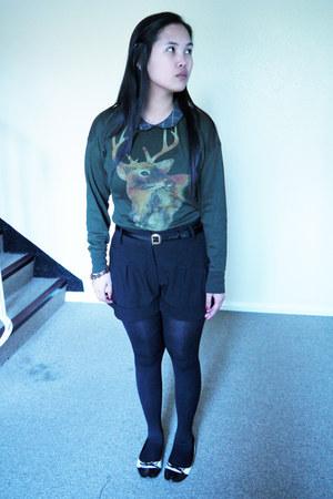 Topshop shorts - Zara top