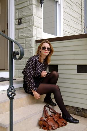 thrifted shirt - Antipodium skirt - Bass shoes - Mulberry