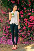 korea heels - LF stores jeans - Juicy Couture sunglasses - f21 top