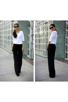 black Theory pants - white LnA top