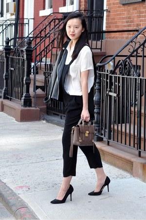 black Gent & Co jacket - heather gray 31 Phillip Lim bag - black Zara heels