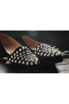 black DIY shoes