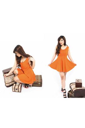 waist dress dress - heels