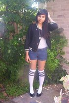 forever 21 jacket - Steve Madden socks - BCBGgirls shoes