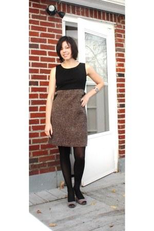 timex accessories - Tahari shorts - H&M tights - thrifted dress