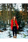 Tawny-landrover-shoes-red-wool-trf-coat-black-skinny-jeans-pourelle-jeans