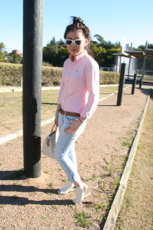 pink Polo Ralph Lauren shirt - blue Bettina Liano jeans - white Queens Wardrobe
