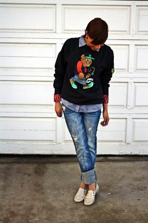 blue boyfriend jeans Zara jeans