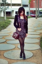 Jeanswest michael jackson like jacket - Vintage bag - jeanswest lace tights - sp