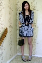 thrifted  top - oroton vintage belt - charles and keith wedges - Vintage bag - t