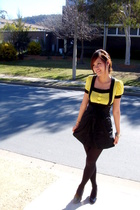 supre skirt - shoes - hello kitty earrings - coach purse