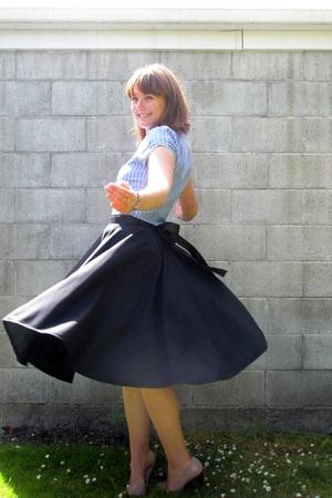 black Piglet made haha skirt - blue Valley Girl shirt - pink No1 Shoes shoes