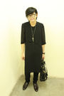 Black-thrifted-dress-black-topman-jeans-brown-black