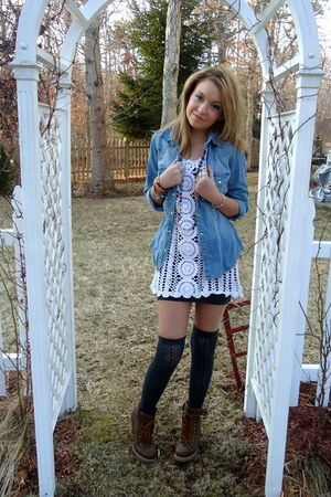 Charlotte Russe boots - Rue 21 dress - H&M shirt