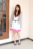 Mango dress - Forever21 blazer - Zara belt - Jeffrey Campbell heels