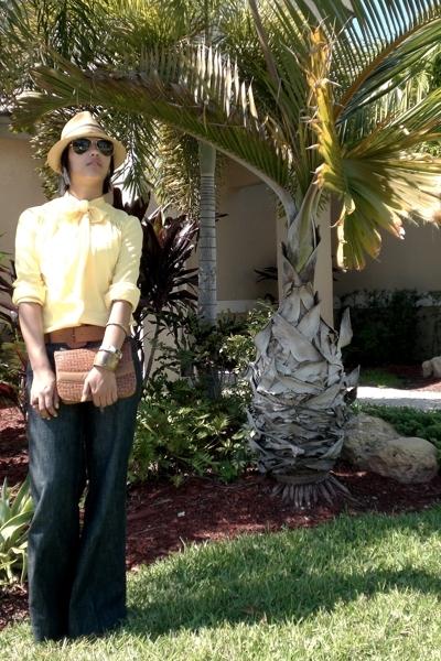 blouse - belt - hat - purse - accessories - Forever21 pants