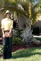 blouse - belt - hat - purse - accessories - Forever21 pants