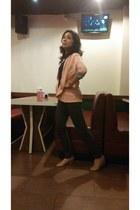 charcoal gray Executive jacket - light pink cotton no brand blazer