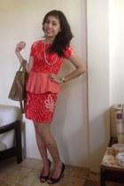 red pep plum batik Batik dress - black Nine West wedges