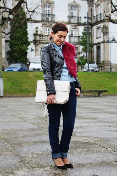 Zara shoes - H&M jacket - Zara bag - H&M pants - Parfois earrings