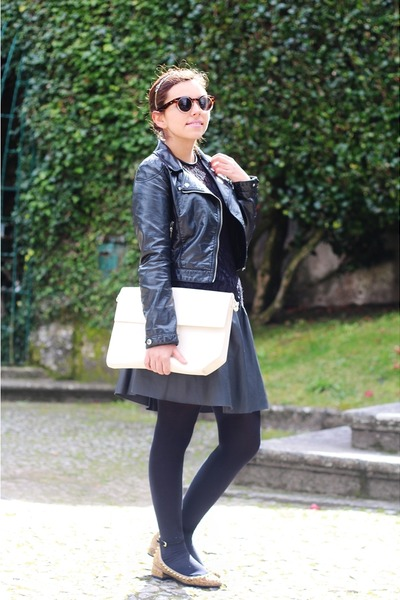 Zara dress - H&M jacket - Zara bag - Zara flats