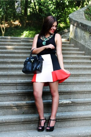 Zara skirt - Zara necklace - Zara top