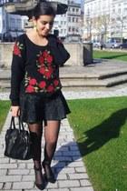 Zara shoes - Parfois bag - Zara skirt - Zara jumper - H&M earrings