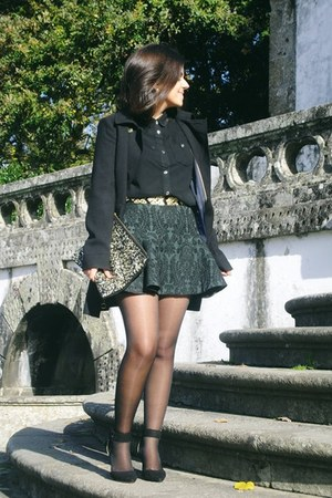 Zara shoes - hm coat - Primark bag - Zara belt - Zara skirt