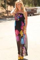 PINKBASIS dress - PINKBASIS earrings - PINKBASIS heels