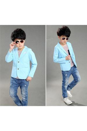 Pink Blue India blazer