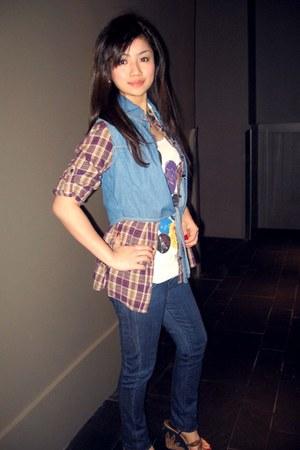 Dolce & Gabbana shoes - Diesel jeans - blue Pull & Bear vest - Pull & Bear top