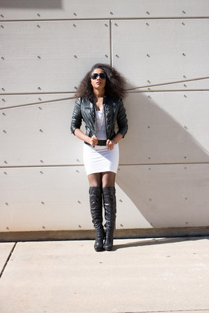 faux leather jacket - faux leather Luichiny boots