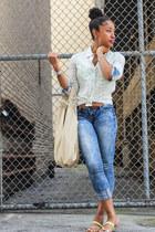 cotton BCBGeneration shirt - cotton Express jeans - Target sandals