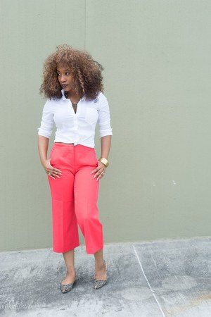 JustFab shoes - H&M shirt - Express pants