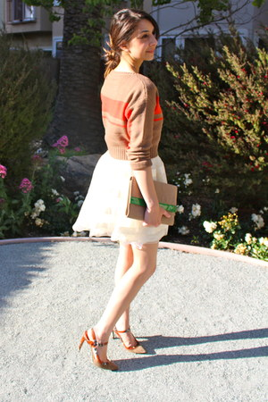 H&M skirt - Via Spiga shoes - H&M bag