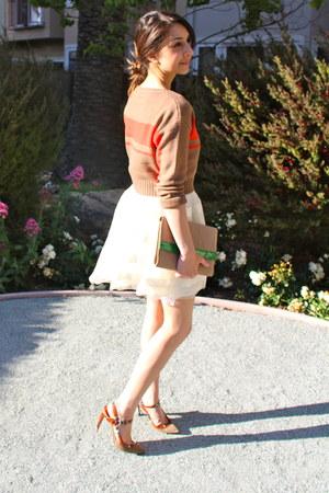 H&M skirt - Via Spiga shoes - H&M bag
