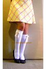 White-diy-socks-yellow-vintage-skirt
