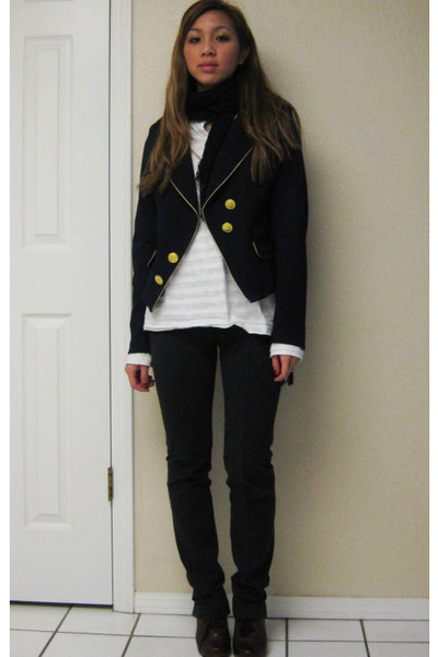 Forever21 blazer - Forever21 top - Express pants - Jeffrey Campbell shoes - Fore