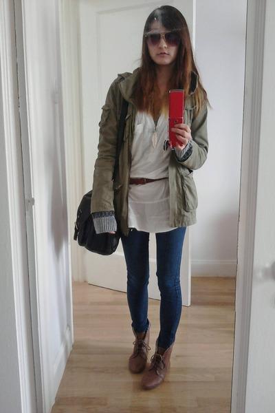 Collarless Jean Jacket H&m H&m Jacket H&m Bag H&m