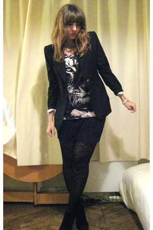 Alexander McQueen blazer - H&amp;M top - American Apparel skirt