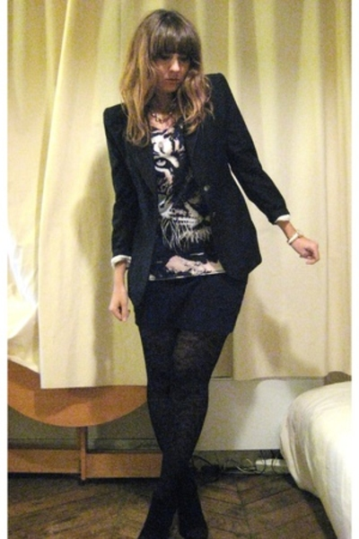 Alexander McQueen blazer - H&M top - American Apparel skirt