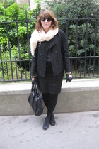 Marc Jacobs purse - vintage coat - Zara skirt - Repetto shoes